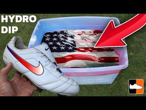 How To Hydro Dip 🇺🇸 Flags & Nike Soccer Shoes