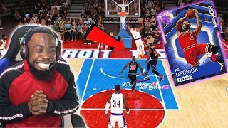 Opal Derrick Rose EPIC 360 DUNK On The Whole Team! NBA 2K19