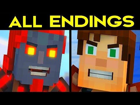 Minecraft Story Mode Season 2 Episode 2 ALL ENDINGS (Bad Ending 1 + Good Ending 2) + SECRET ENDING