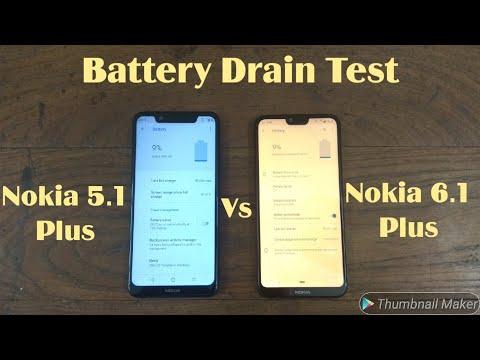 Nokia 6.1 Plus Vs Nokia 5.1 Plus Battery Drain Comparison. In-depth Tests.