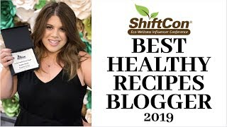 I won! won't best healthy recipes blogger of 2019 at shiftcon! what an honor! http://www.krystenskitchen.com shiftcon is eco-wellness influencer confere...
