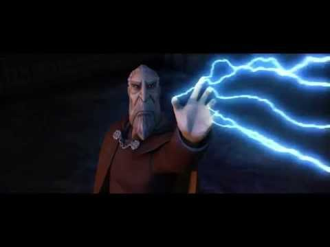 Thumbnail: Star Wars: The Clone Wars - Anakin Skywalker vs. Count Dooku & Bodyguard Droids [1080p]