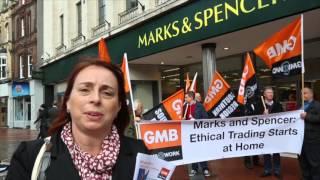 Marks & Spencer Demo Oct 2015