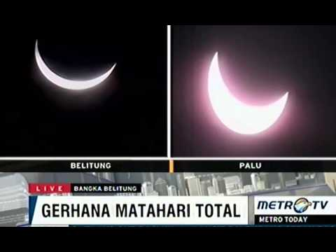 Solar eclipse across Indonesia live streaming March 9 2016