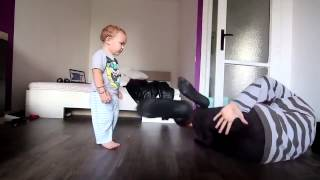 Father and Cute Little son B Boy Dance Challenge Super Cute