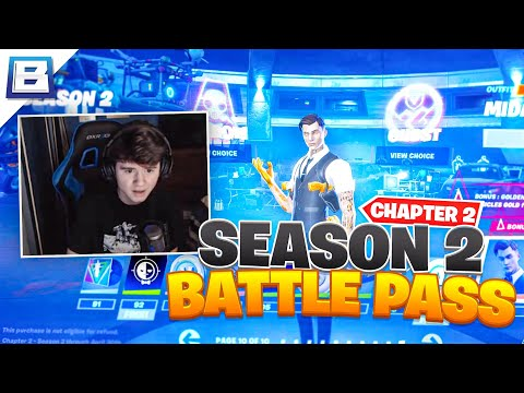 Reacting To The New Fortnite Season (Buying All Tiers)   Bugha