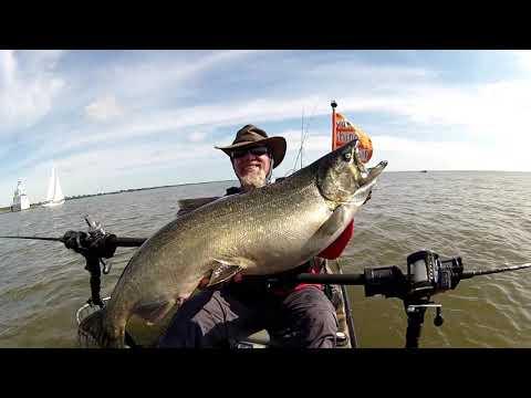 Great Lakes Kayak Fishing Series  Salmon Tournament WIN !!