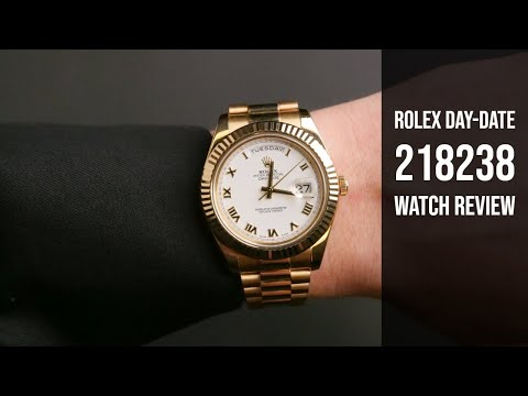 Day-Date II 218238 White Roman 41mm Pre-Owned Watch Review   Bob's Watches