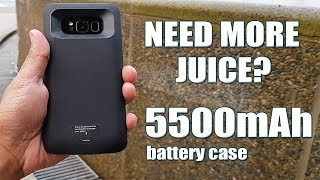 Galaxy S8 Plus 5500mAh Battery Case - Need More Juice To Get You Through The Day? [4K] 21:9