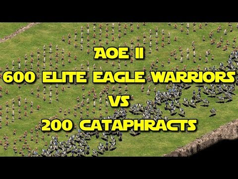 ◀ Age Of Empires II - 600 Elite Eagle Warriors vs 200 Elite Cataphracts