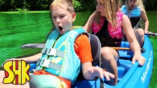 LAKE MYSTERY and swimming challenge! SuperHeroKids Funny Family Videos Compilation