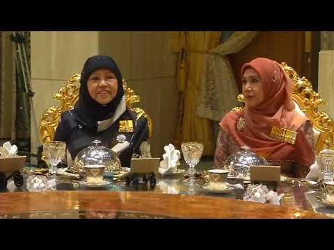 Sultan Dan Raja Istri Anak Hajah Saleha Of Brunei Darussalam(Majlis Persantapan Diraja Jubli Emas)🙏