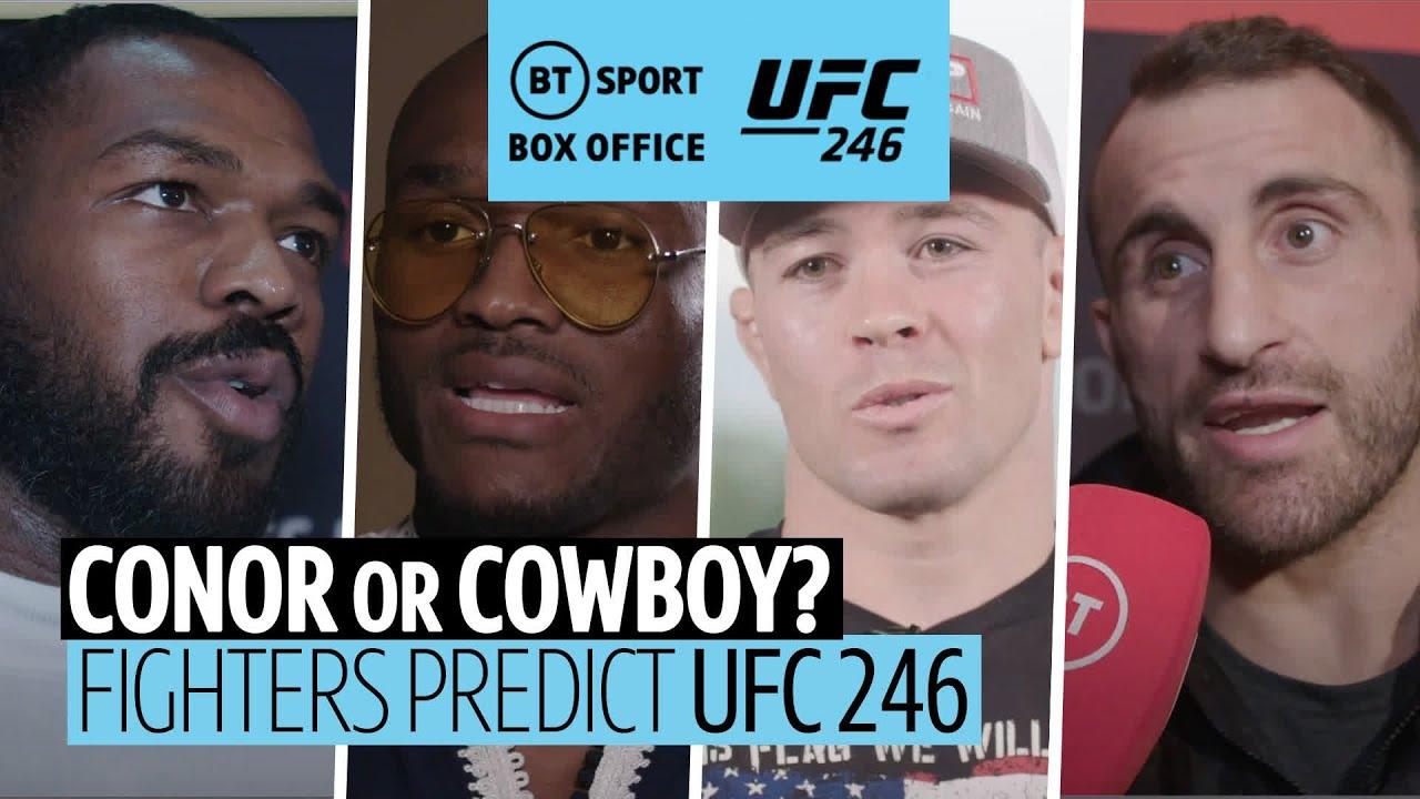 Conor McGregor or Cowboy Cerrone? Who wins it? UFC fighters predict #UFC246