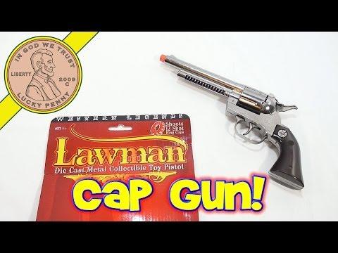 Lawman Die Cast Metal Collectible Toy Pistol Cap Gun Western Legend, By Parris
