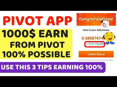 Pivot App Unlimited Earning Trick | 1000$ possible still to earn by online money