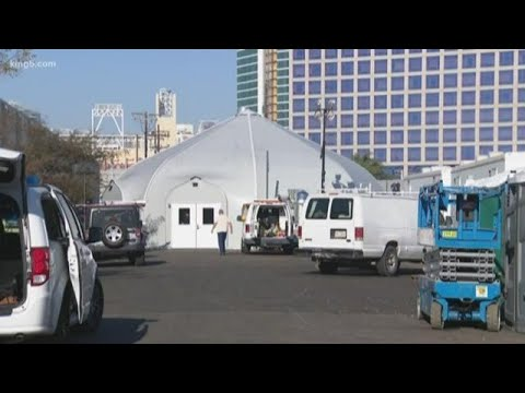 Pitch to spend $3 million-plus on 'mass shelter tent' for homeless people in Seattle