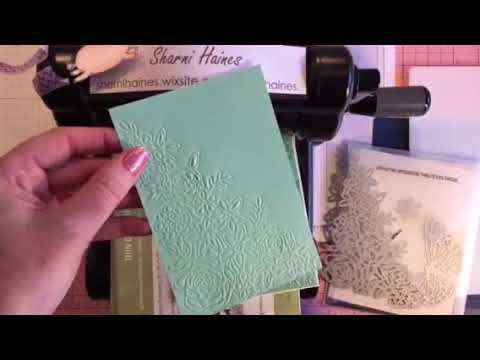 Embossing With Dies Using New Stampin Up Big Shot Mats