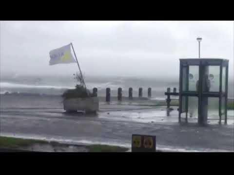 Floods as Atlantic BREACHES Irish coastal defence