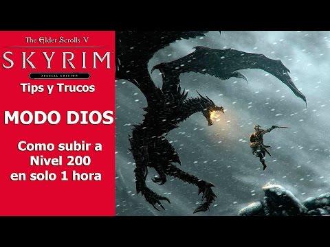Skyrim Special Edition | Tips y Trucos | MODO DIOS (Como subir a Nivel 200 en solo una hora)