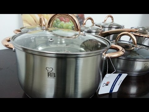 Unboxing Renberg Jumbo Cookware Set 12-Pieces