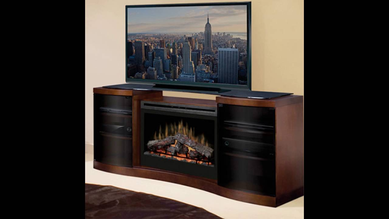 tv on top of electric fireplace - YouTube