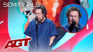 Comedian Ryan Niemiller Tells Funny Story About Not Knowing How To Swim - America's Got Talent 2019