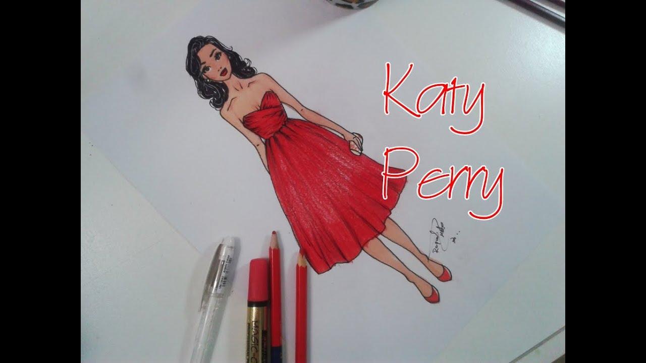 desenho de moda rápido katy perry look youtube