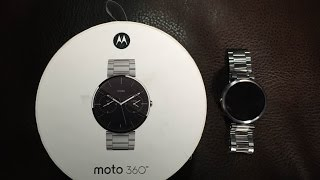MOTO 360 Android Wear Smart Watch Stainless Steel(We take a look at the Google approach to a smart watch, and its pretty darn good. Product Link Amazon US http://amzn.to/181Radh Black Leather ..., 2015-03-08T19:13:30.000Z)