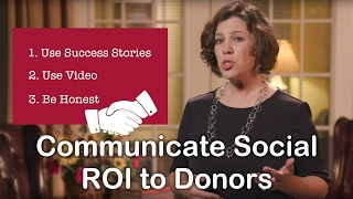 How to Communicate Social ROI to Donors