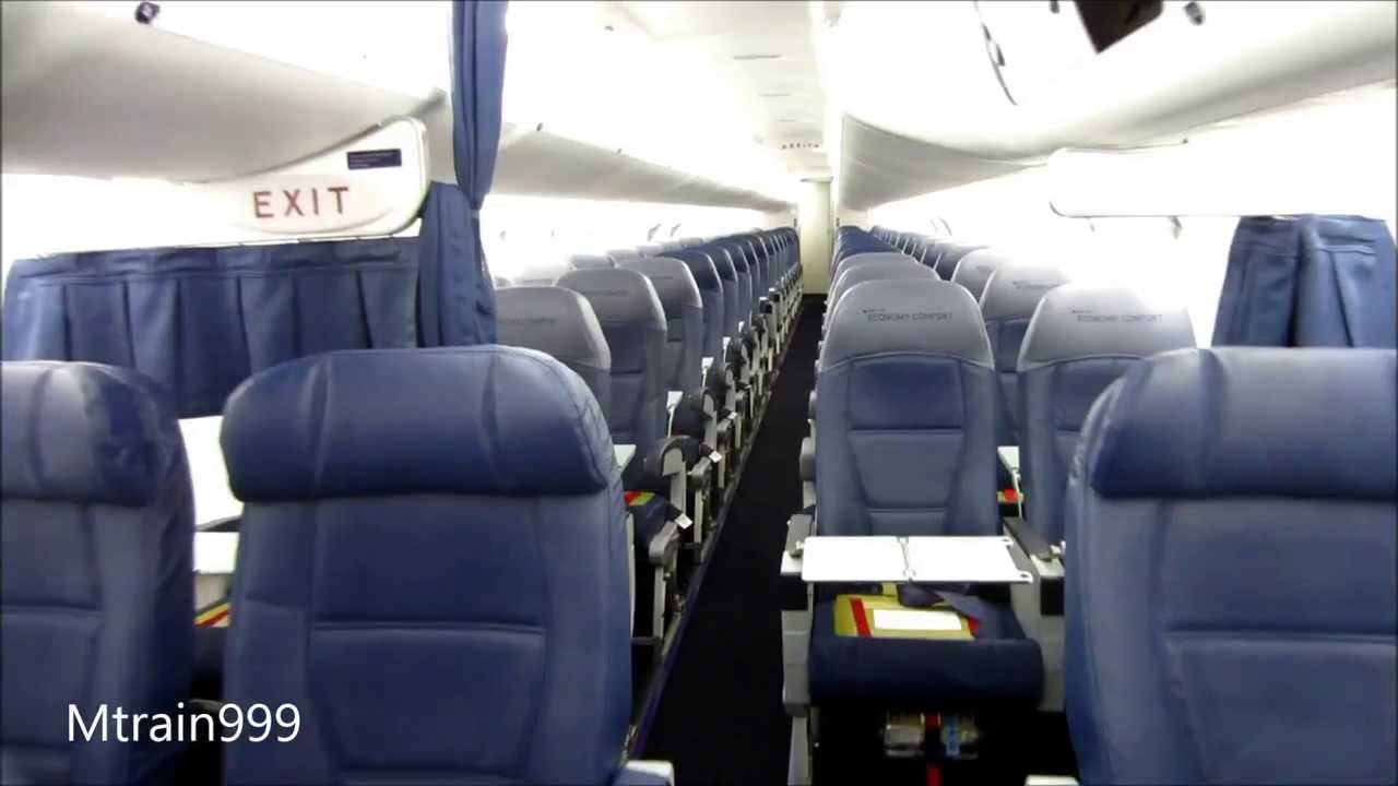First Brand New Endeavor Air Crj900 Cabin Old Youtube