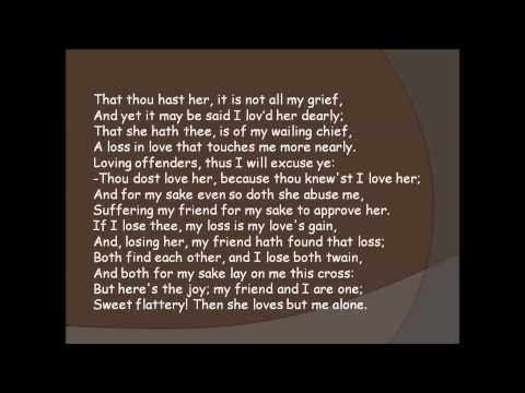 Sonnet 42   Sweet Flattery