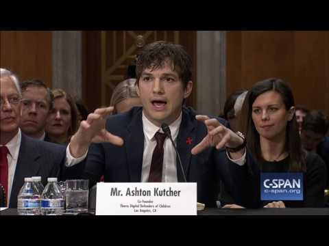 Ashton Kutcher FULL OPENING STATEMENT (C-SPAN)