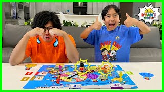 Ryan&#39s World Tour Board Game Family fun with Ryan vs Daddy!!!
