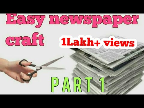 Easy Newspaper Crafts Newspaper Flower Making Wall Decor Using
