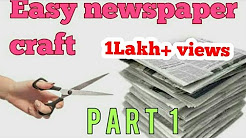 Easy newspaper craft for kids Newspaper reuse craft part -1 |making wall art using newspaper