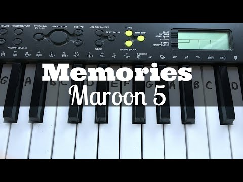 Memories – Maroon 5 | Easy Keyboard Tutorial With Notes
