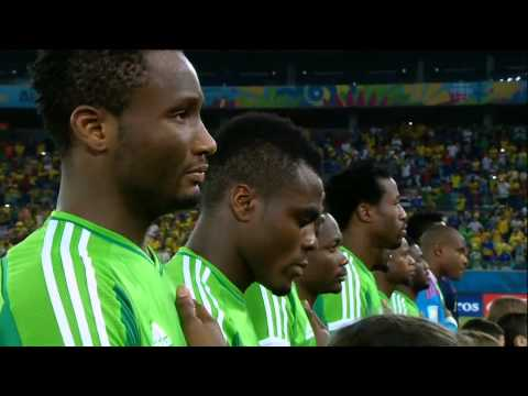 Nigeria vs. Bosnia and Herzegovina World Cup 2014 National Anthems
