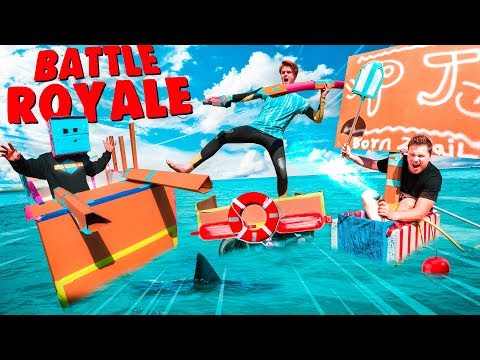 Floating BOX FORT Boat BATTLE ROYALE!! Last To Sink Challenge