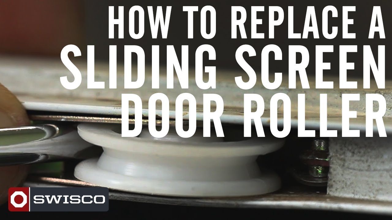 How To Replace A Sliding Screen Door Roller [1080p]   YouTube