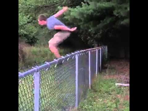 Jumping Over Fence Fail Youtube