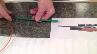 how to make a pull through kit for cleaning a pellet gun airgun or air rifle