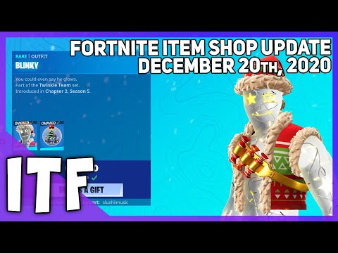 Fortnite Item Shop *NEW* BLINKY SET + RARE EMOTE! [December 20th, 2020] (Fortnite Battle Royale)
