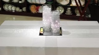How to Decorate With Organza & Lights on Tables : Table Designs