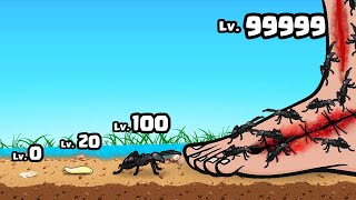 EATING With a MAX LEVEL ANT ARMY in Ants Runner