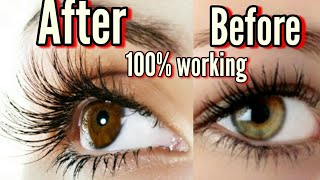 How to Grow Long, Thick, Strong Eyelashes || How to Grow long thick Eyelashes just in 3 weeks 2019