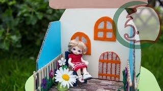 Как сделать маленький домик для кукол. How to make little house for dolls.(Мы предлагаем сделать кукольный домик для пупсиков или маленьких кукол. Этот кукольный домик легко разобра..., 2015-07-26T06:33:23.000Z)