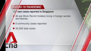 Singapore reports 408 new COVID-19 cases