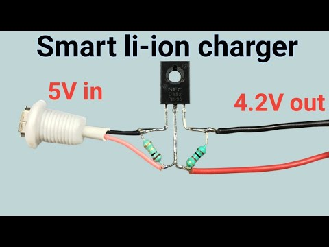 Simple Li-ion 18650 Battery Charger Circuit