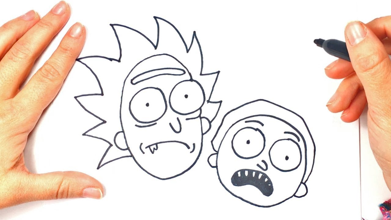 How to draw rick and morty cartoon drawings