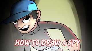 How to draw a spy character